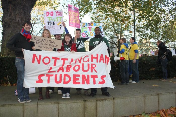 Student March November 2010 Nottingham University