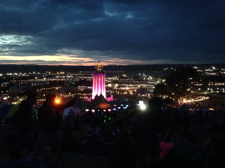 Glastonbury nightscape