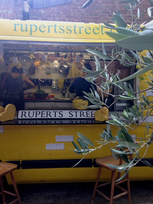 vegan burger van - Ruperts Street