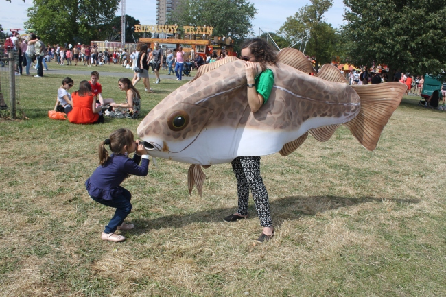 Greenpeace fish costume