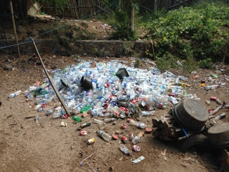 Plastic waste Kuta Lombok